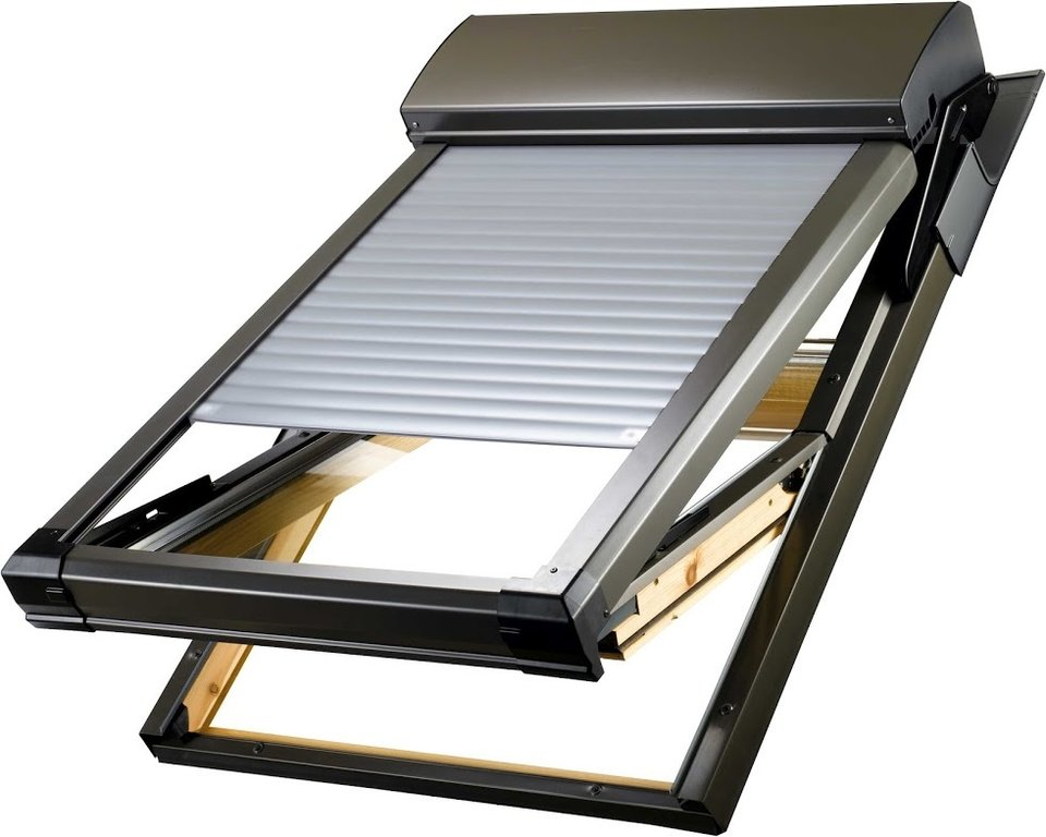 atix a with solar velux ggl roof window shutter. Black Bedroom Furniture Sets. Home Design Ideas
