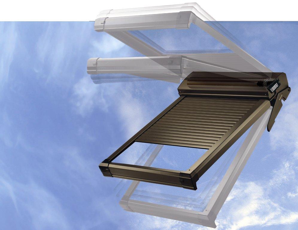dachfensterrollladen atix a mit solar velux ggl moderne rollladen und markisen. Black Bedroom Furniture Sets. Home Design Ideas